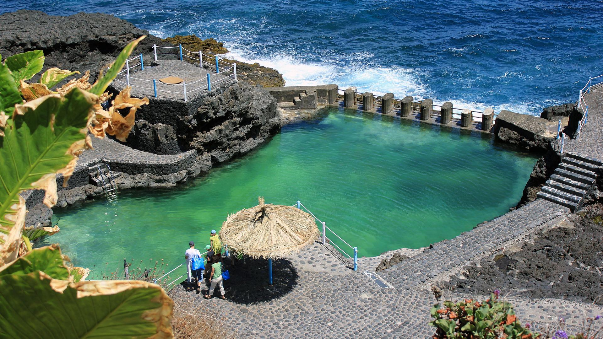 le spiaggie più belle de la Palma Canarie charco-azul