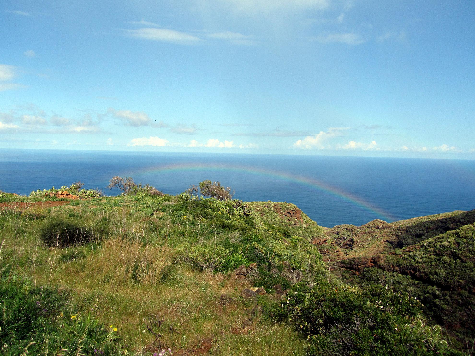 10 motivi per visitare la palma canarie garafia-arcobaleno