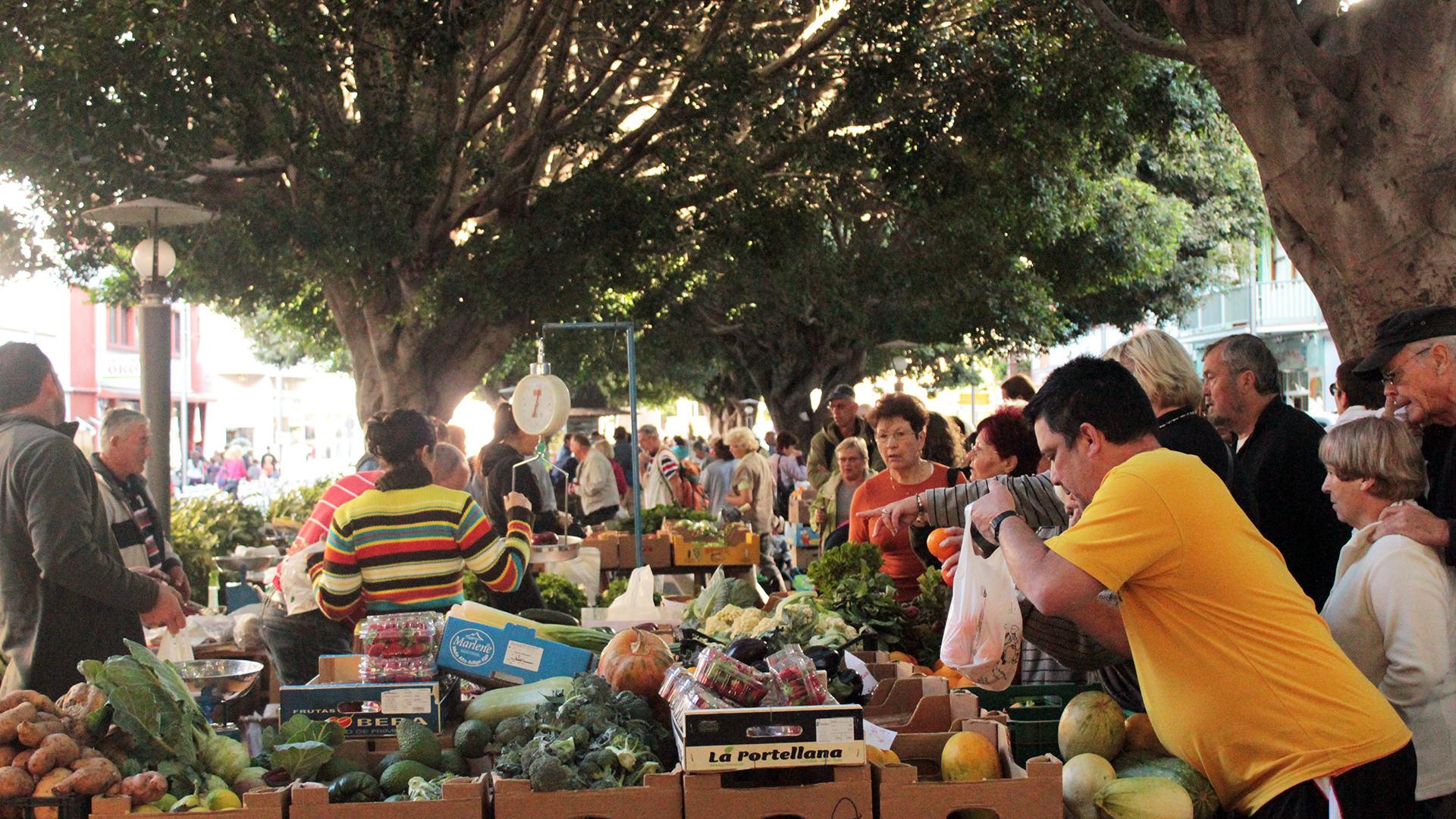 turismo rurale La Palma Canarie mercato frutta e verdura