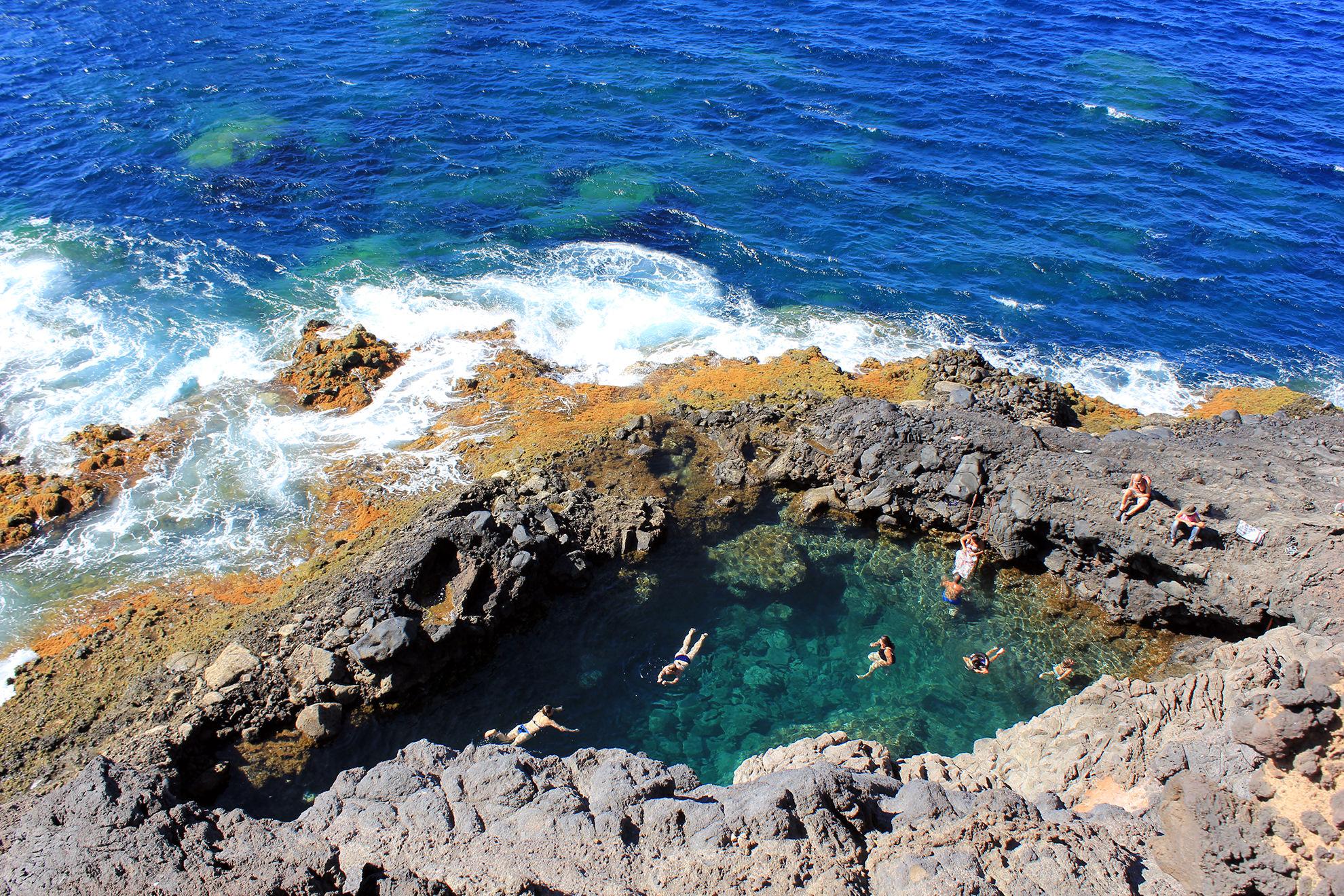 le spiaggie più belle de la Palma Canarie piscinas-santo-domingo