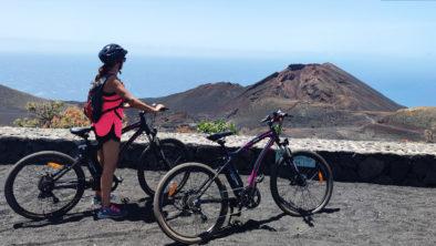Con la bicicletta elettrica e-bike a La Palma Isole Canarie
